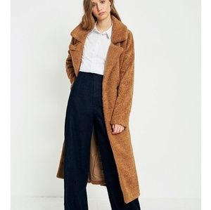Urban outfitters light before dark camel trench